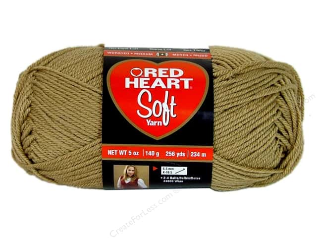 Red Heart Soft Yarn #9388 Wheat 256 yd.