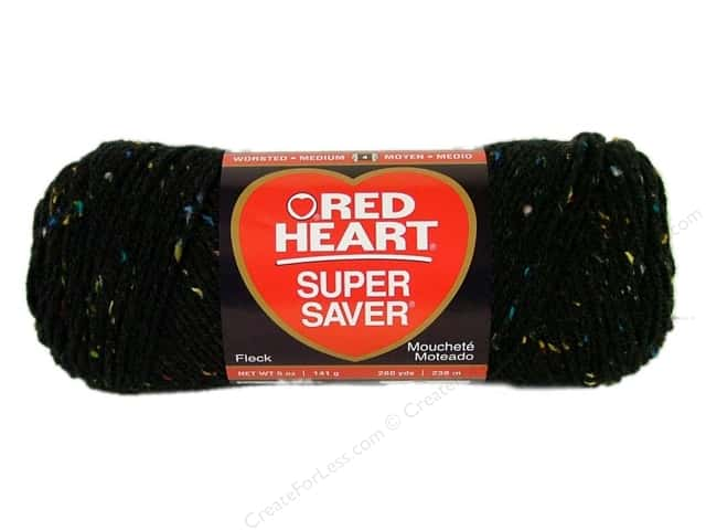 Red Heart Super Saver Yarn #4302 Black Fleck 5 oz.