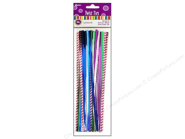 "Darice Twist Ties 7.25"" Multi 50pc"