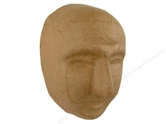 Paper Mache Large Full Face Mask by Craft Pedlars
