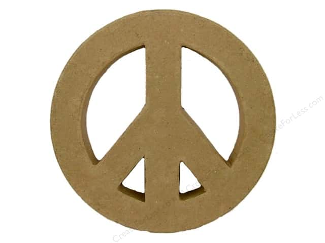 Paper Mache Peace Symbol by Craft Pedlars