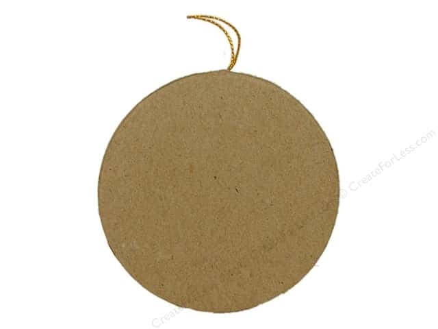Paper Mache Flat Round Ornament by Craft Pedlars (3 pieces)