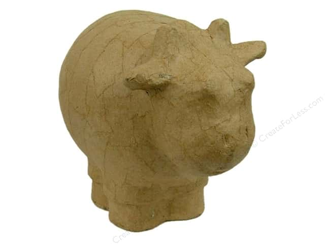 Paper Mache Hippo Bank by Craft Pedlars