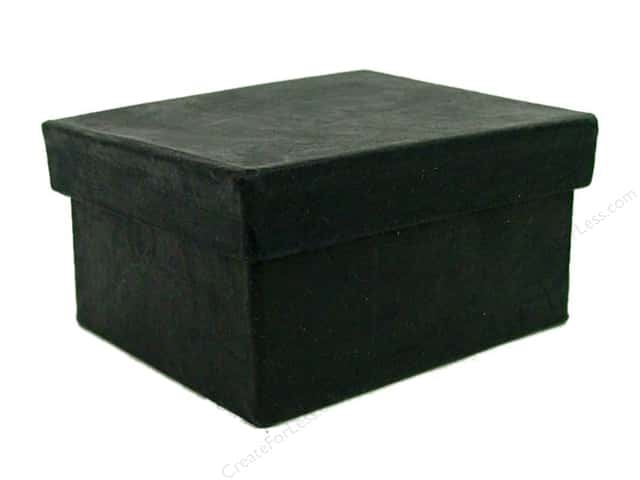 Paper Mache Mini Rectangle Box Black by Craft Pedlars (36 pieces)