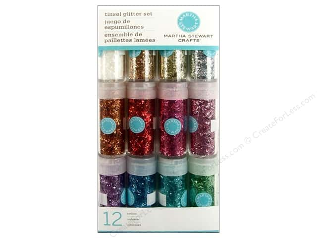 Martha Stewart Glitter Tinsel 12pc