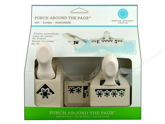 Martha Stewart Punch Around The Page Aspen Snowflake Set