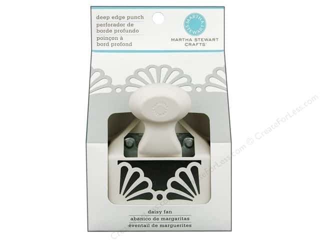 Martha Stewart Punch Deep Edge Daisy Fan