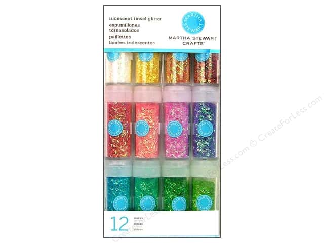 Martha Stewart Glitter Tinsel Iridescent 12pc