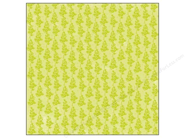 "Making Memories Paper 12""x 12"" Flutter Green Floral Glitter (25 sheets)"