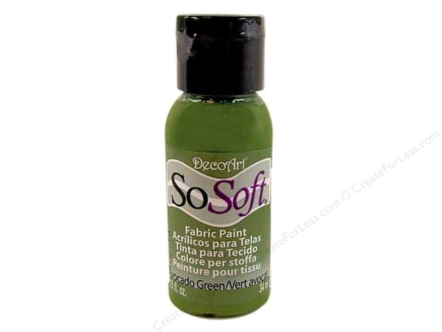 DecoArt SoSoft Fabric Paint 1.15 oz. #19 Avocado Green