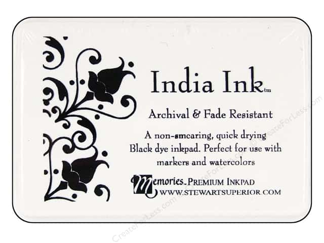 Stewart Superior Memories India Ink Inkpad Large Black