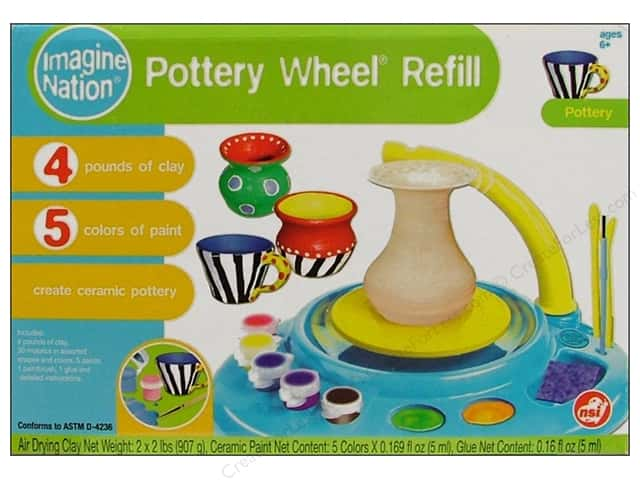 NSI Activity Kit Pottery Wheel Modeling Clay Refill