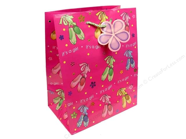 Cindus Gift Bag Medium Printed Baby Foil Girl Ballet