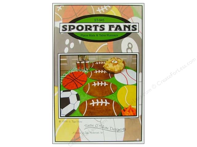 Susie C Shore Sports Fans Pattern