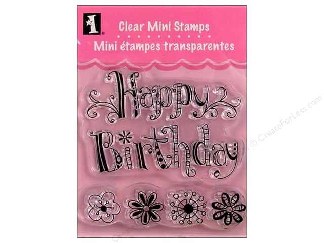 Inkadinkado InkadinkaClings Clear Stamp Mini Happy Birthday