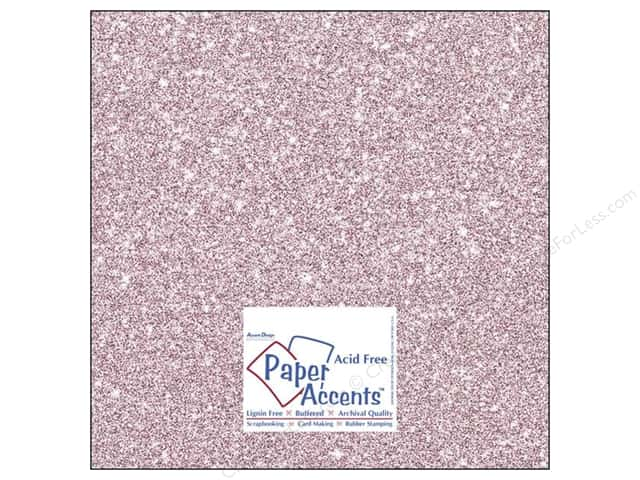 Cardstock 12 x 12 in. #5103 Glitz Silver/Petal Pink by Paper Accents (25 sheets)