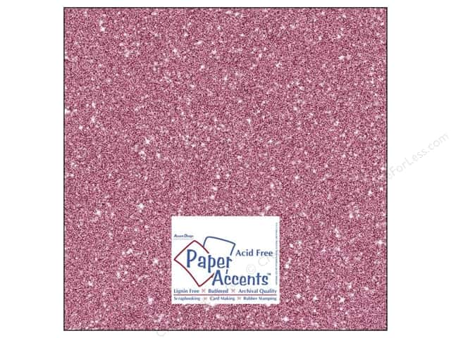Cardstock 12 x 12 in. #5105 Glitz Silver/Snapdragon by Paper Accents (25 sheets)