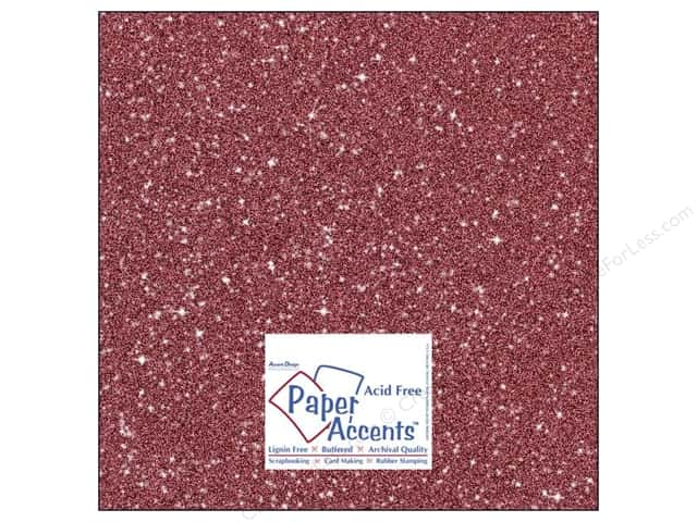 Cardstock 12 x 12 in. #5107 Glitz Silver/Crimson by Paper Accents (25 sheets)