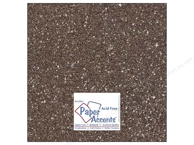 Cardstock 12 x 12 in. #5108 Glitz Silver/Fudge by Paper Accents (25 sheets)
