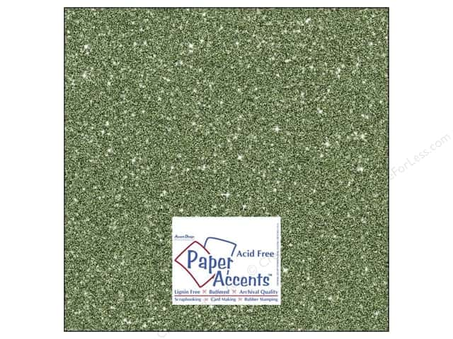 Cardstock 12 x 12 in. #5112 Glitz Silver/Bayberry by Paper Accents (25 sheets)