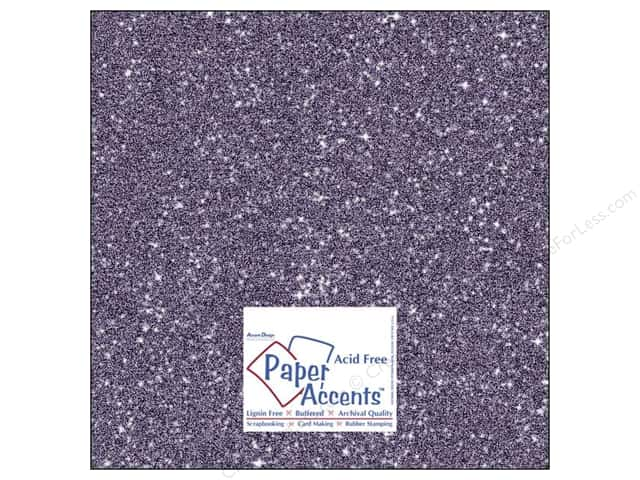 Cardstock 12 x 12 in. #5116 Glitz Silver/Violet by Paper Accents (25 sheets)