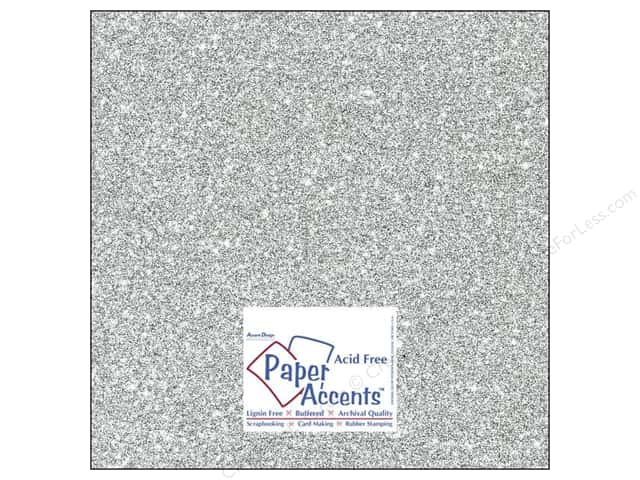 Cardstock 12 x 12 in. #5117 Glitz Silver/Platinum by Paper Accents (25 sheets)