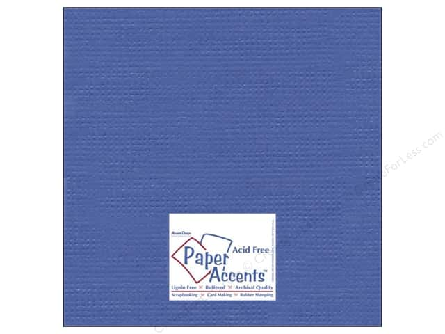 Cardstock 12 x 12 in. #8086 Muslin American Blue by Paper Accents (25 sheets)