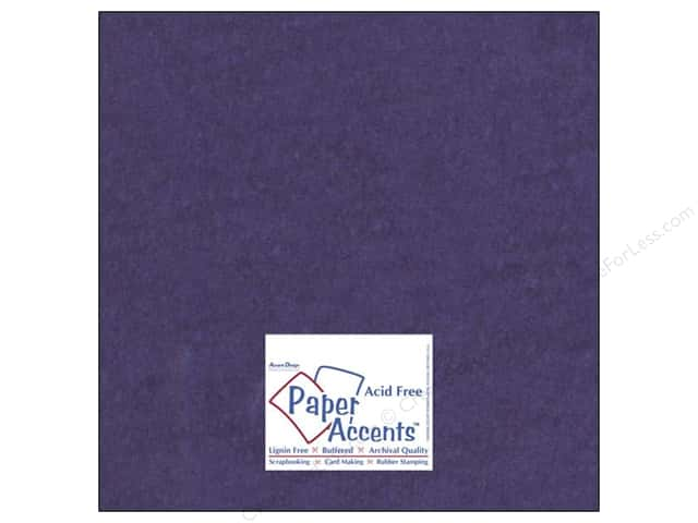 Cardstock 12 x 12 in. #8088 Muslin Grape Slushie by Paper Accents (25 sheets)