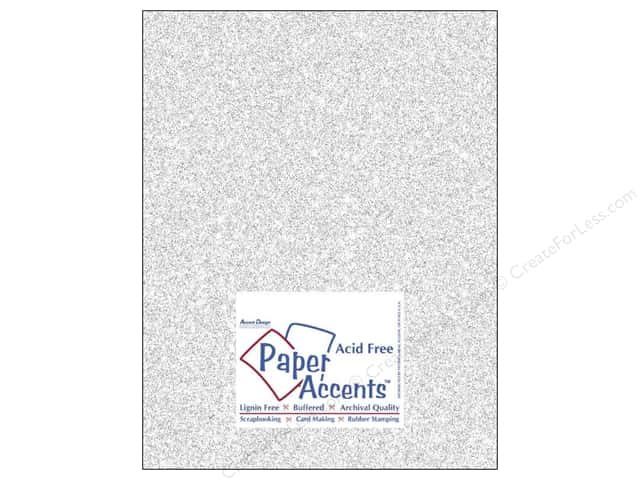 Cardstock 8 1/2 x 11 in. #5101 Glitz Silver/Fairy Dust by Paper Accents (25 sheets)