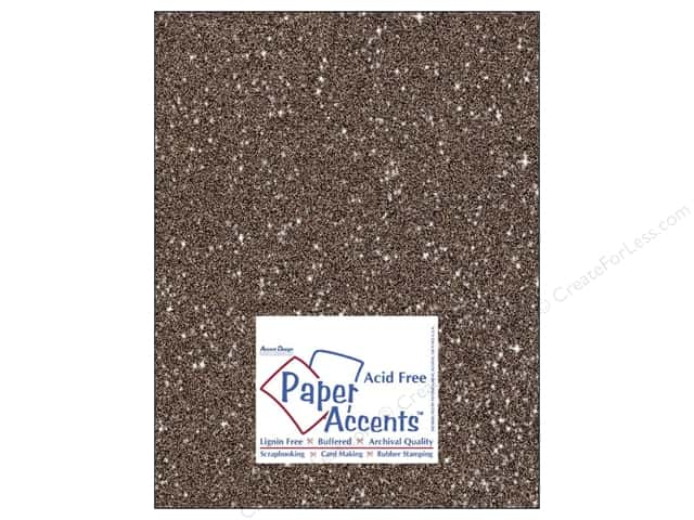 Cardstock 8 1/2 x 11 in. #5108 Glitz Silver/Fudge by Paper Accents (25 sheets)