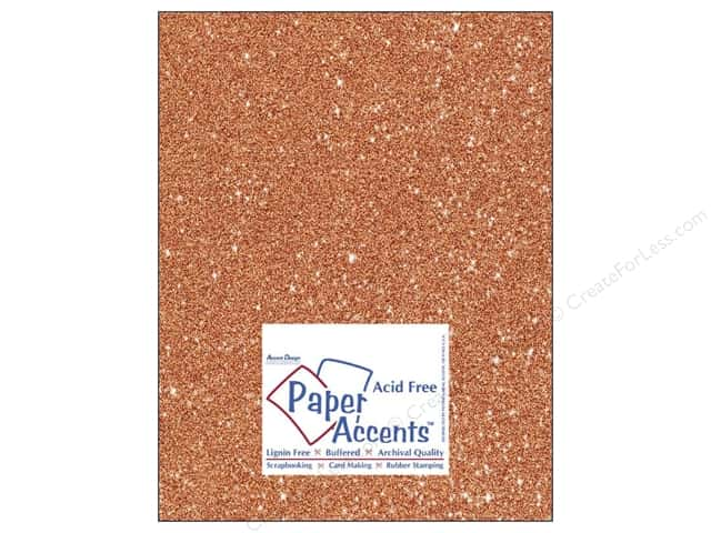 Cardstock 8 1/2 x 11 in. #5109 Glitz Silver/Tangerine by Paper Accents (25 sheets)