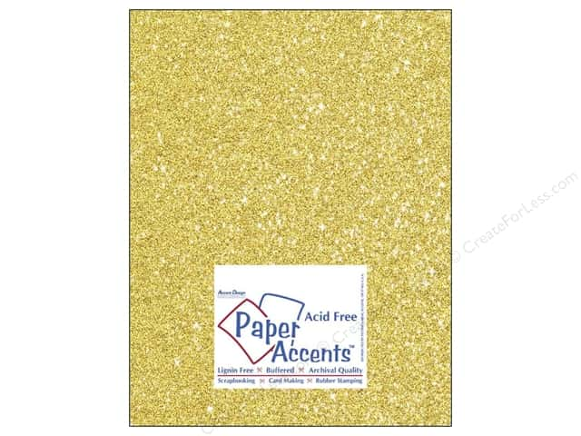 Cardstock 8 1/2 x 11 in. #5110 Glitz Silver/Daffodil by Paper Accents (25 sheets)