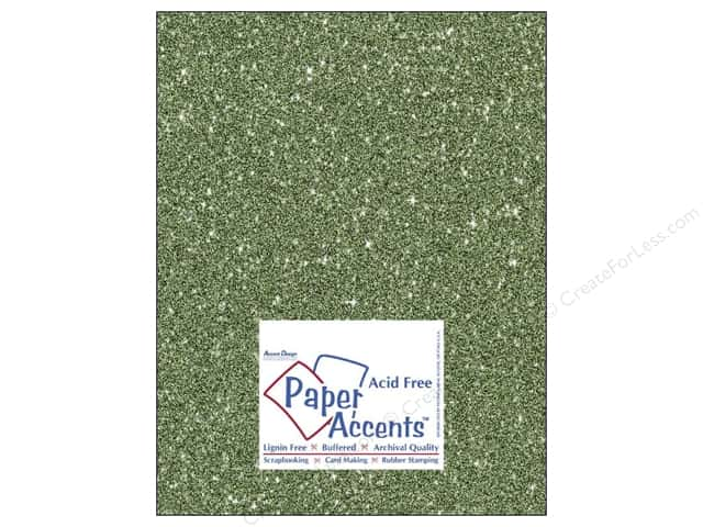 Cardstock 8 1/2 x 11 in. #5112 Glitz Silver/Bayberry by Paper Accents (25 sheets)
