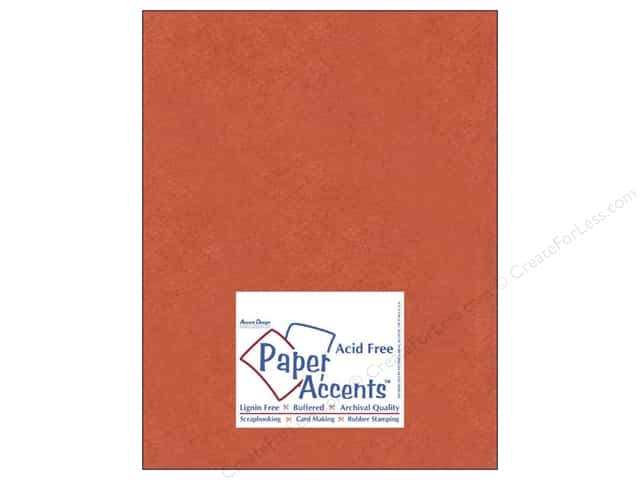 Cardstock 8 1/2 x 11 in. #8083 Muslin Construction Orange by Paper Accents (25 sheets)