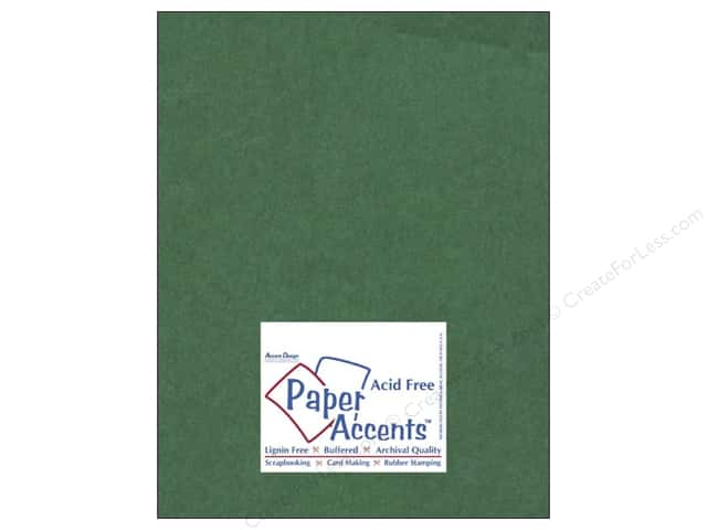 Cardstock 8 1/2 x 11 in. #8085 Muslin Grass Green by Paper Accents (25 sheets)