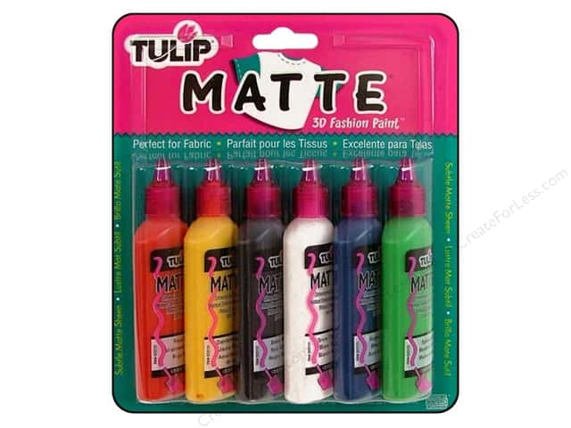 Tulip 3D Fabric Paint Set Matte 6pc