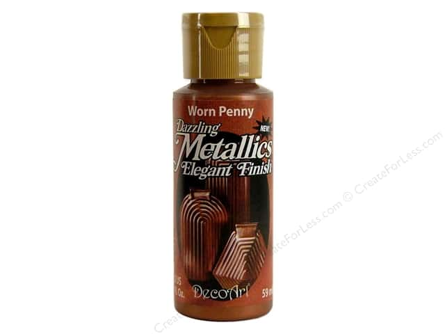 DecoArt Dazzling Metallics Paint 2oz Worn Penny