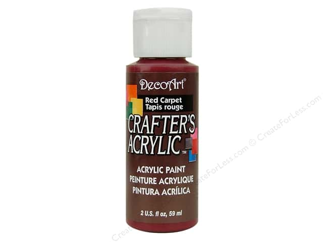DecoArt Crafter's Acrylic Paint 2 oz. #64 Red Carpet