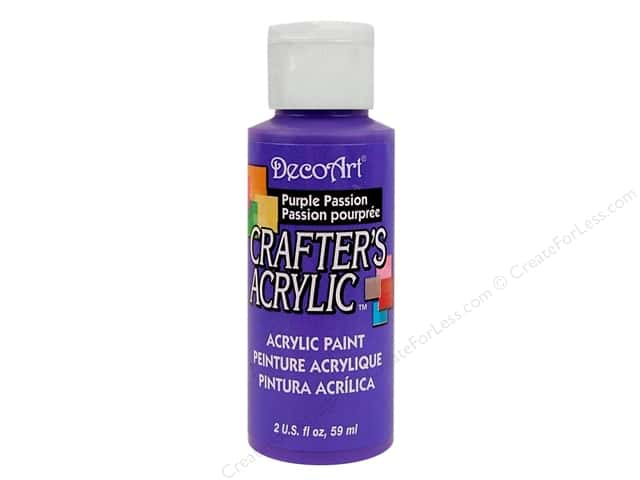 DecoArt Crafter's Acrylic Paint 2 oz. #72 Purple Passion