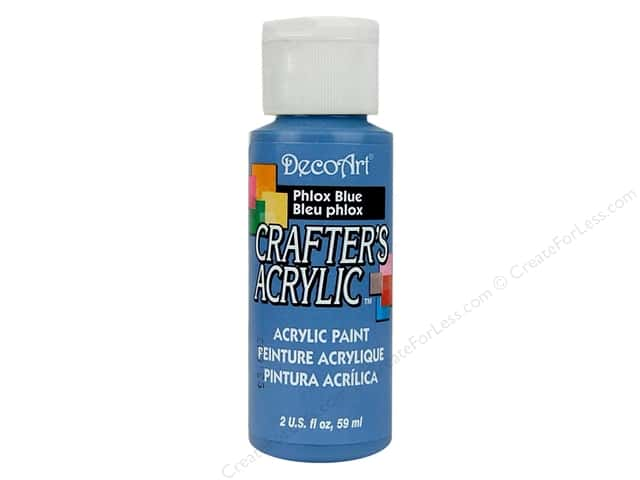 DecoArt Crafter's Acrylic Paint 2 oz. #78 Phlox Blue