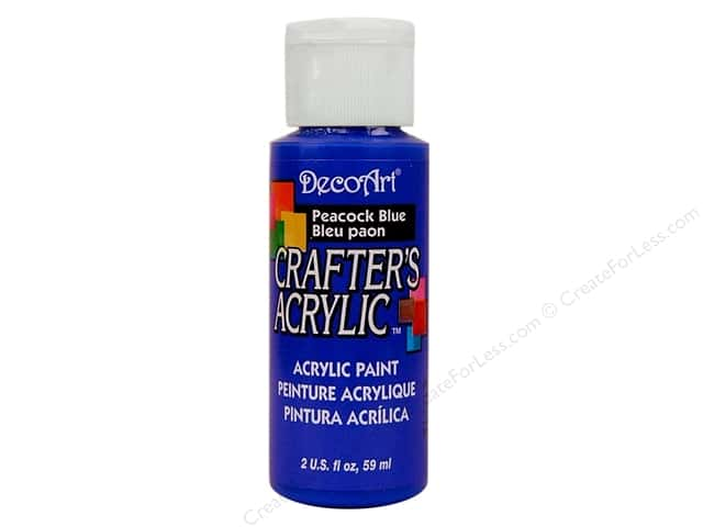 DecoArt Crafter's Acrylic Paint 2 oz. #80 Peacock Blue