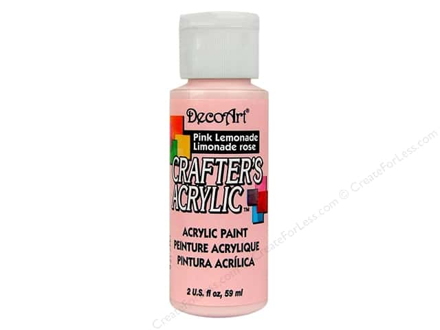 DecoArt Crafter's Acrylic Paint 2 oz. #68 Pink Lemonade