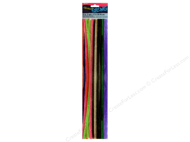 Chenille Stems by Darice 6 mm x 12 in. Multi Color 25 pc. (3 packages)