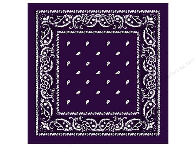 Darice Bandana 22 x 22 in. Purple Paisley