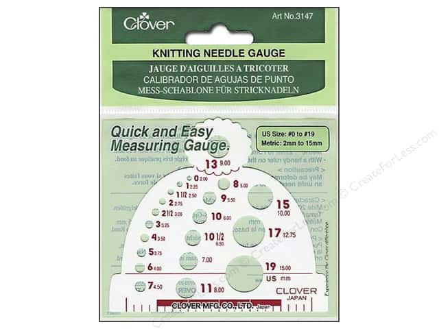 Clover Knitting Needle Gauge Size #0 to #19