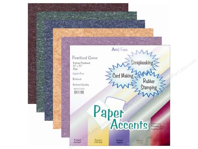Cardstock Variety Pack 12 x 12 in. Pearlized Gem 10 pc. by Paper Accents