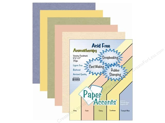 Cardstock Variety Pack 8 1/2 x 11 in. Aromatherapy 20 pc. by Paper Accents