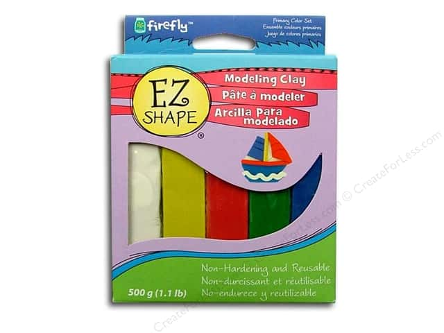 Polyform EZ Shape Non Dry Modeling Clay Set Primary 5pc