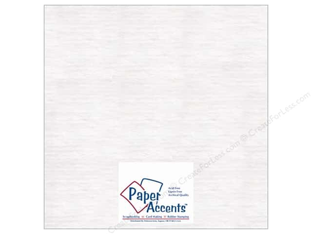 "Paper Accents Chipboard Extra Heavy 12""x 12"" White (25 sheets)"