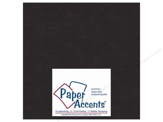 Paper Accents Chipboard 4 x 4 in. 50 pt. Extra Heavy Black (25 sheets)